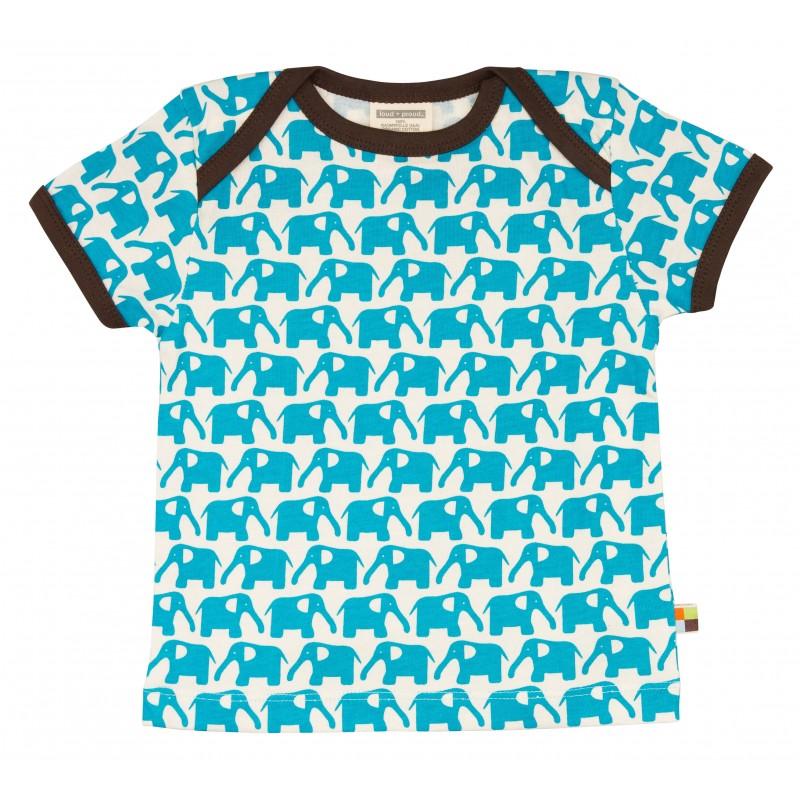 Loud&Proud T-Shirt olifant km aqua