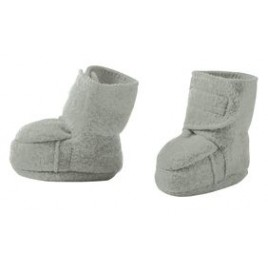 Disana Boiled Wool Booties grey