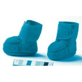 Disana Boiled Wool  Booties blue