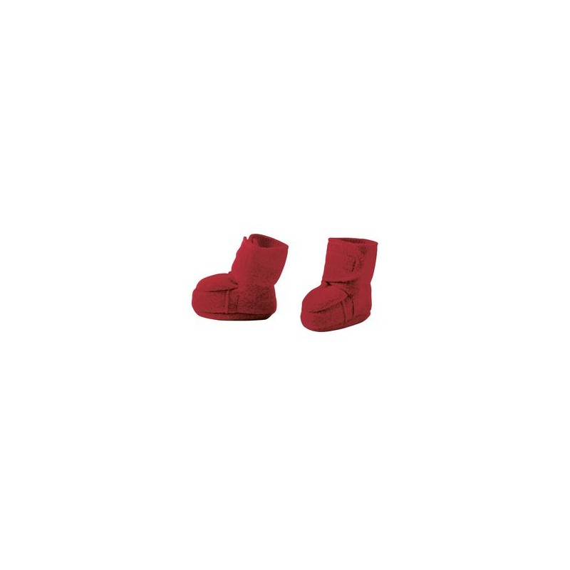 Disana Bordeaux Boiled Wool Bootees