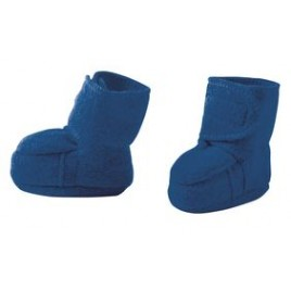Disana Boiled Wool Booties navy