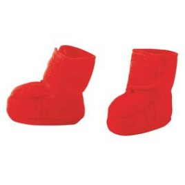 Disana Boiled Wool  Booties Red