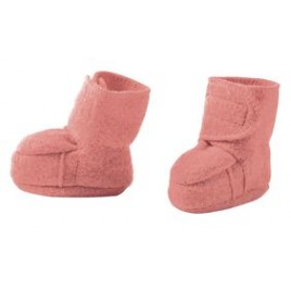 Disana Boiled Wool  Booties Rosé