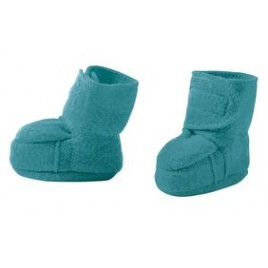 Disana Boiled Wool Booties Lagoon