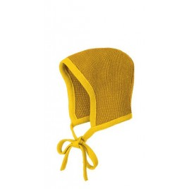 Disana Knitted Bonnet wol curry-gold