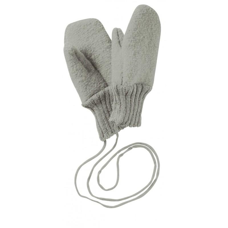 Disana Grey Boiled Wool Gloves