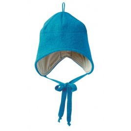 Disana Blue Boiled Wool Hat