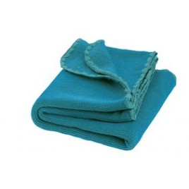 Disana Melange Wool Blanket blue-lagoon