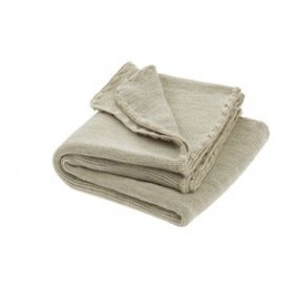 Disana Grey-Natural Melange Wool Blanket