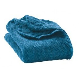 Disana Knitted Woollen Baby Blanket blue