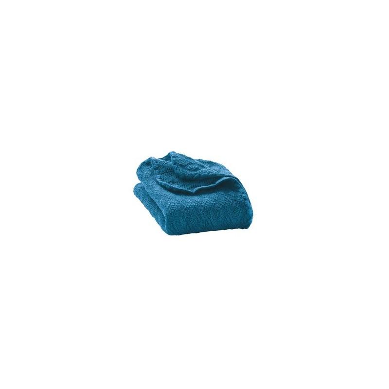 Disana Blue Knitted Woollen Baby Blanket
