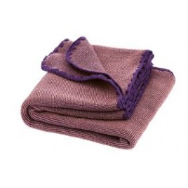 Disana Melange Wool Blanket plum-rose