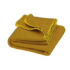 Disana Curry-Gold Melange Wool Blanket