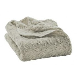 Disana Knitted Woollen Baby Blanket grey