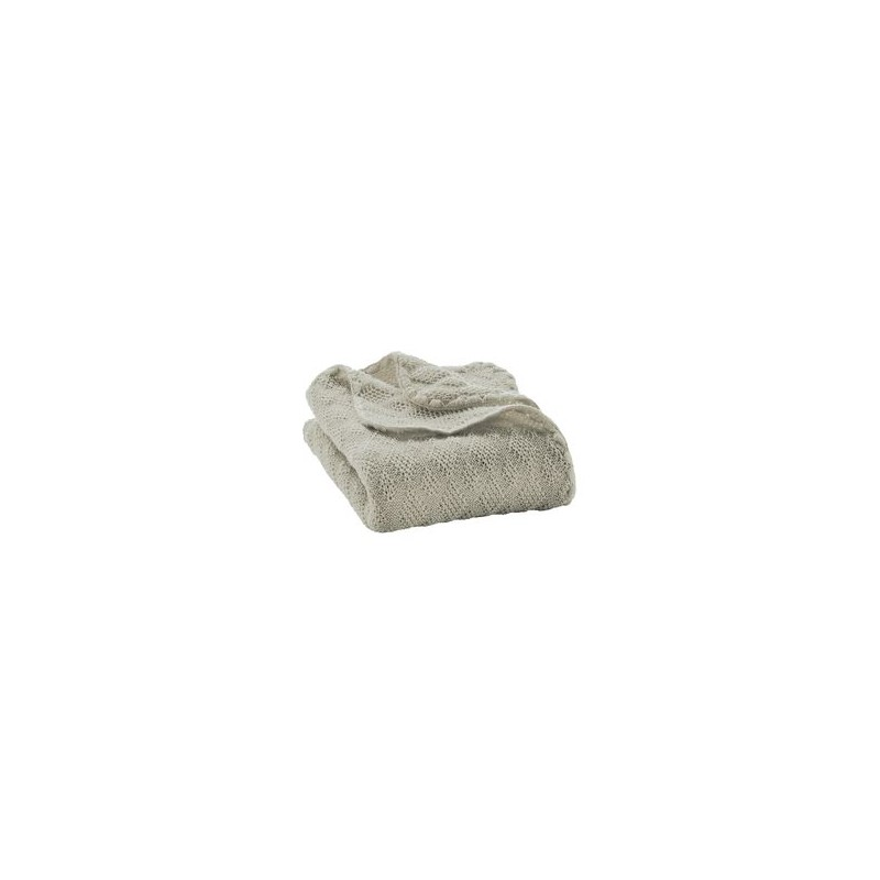 Disana Grey Knitted Woollen Baby Blanket