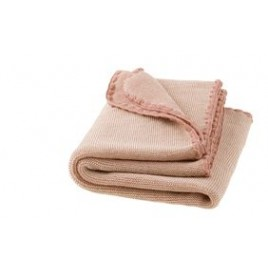Disana Rose-Natural Melange Wool Blanket
