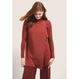 Boob Hannah polo tunic tandoori red