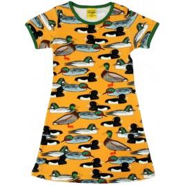Duns Short Sleeve Dress duck mustard tot maat 92