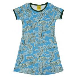 Duns Short Sleeve Dress Basic Dill Blue tot maat 92