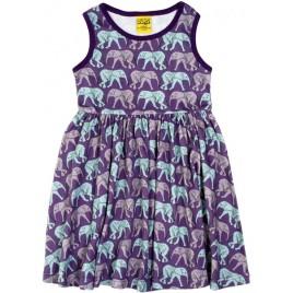 Duns Elephant Walk Gathered Dress  purple vanaf maat 110