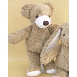 Kallisto Bär mit gestickten Augen Klein beige