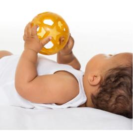 Hevea Star Ball - Speelbal natuurrubber baby