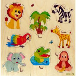 Hess Puzzle Dschungel/Palme