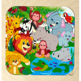 Hess Puzzle Dschungel