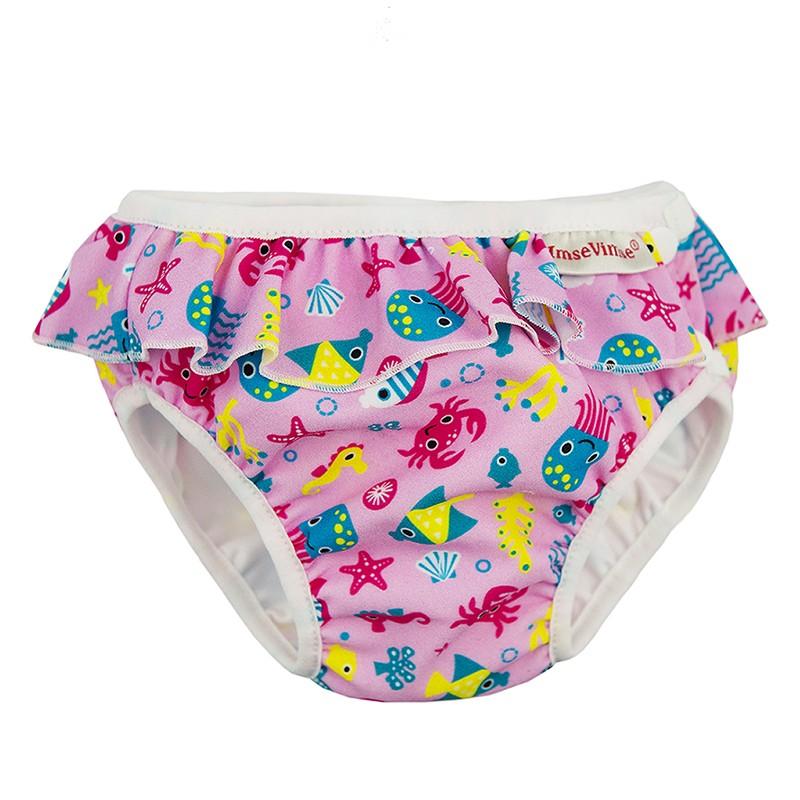 Imse Vimse Swim Diaper Pink Sealife