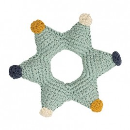 Hoppa Crochet Rattle Star Groen