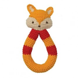 Hoppa Crochet Rattle Fox red/orange