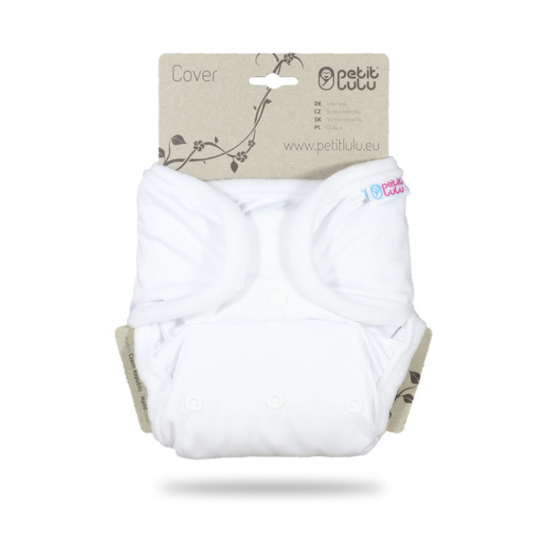 Petit Lulu One Size Cover (Snaps) White