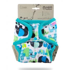Petit Lulu One Size Cover (Snaps) Baby Elephant