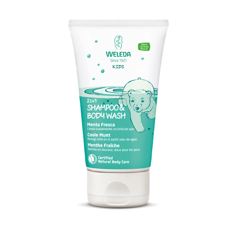 Weleda Shampoo & Bodywash coole munt