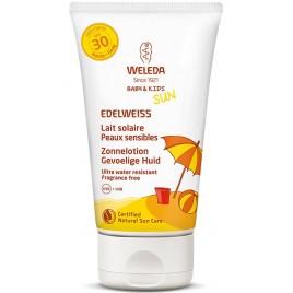 Weleda Zonnelotion Gevoelige Huid SPF30 Edelweiss