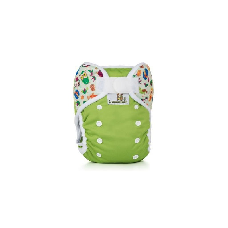 Bamboolik Duo XL  green + owls
