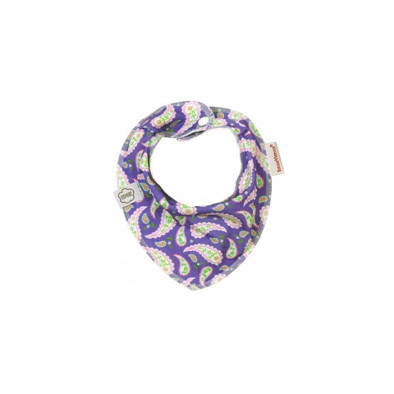 Imse Vimse Organic Bandana Bib Purple Paisley
