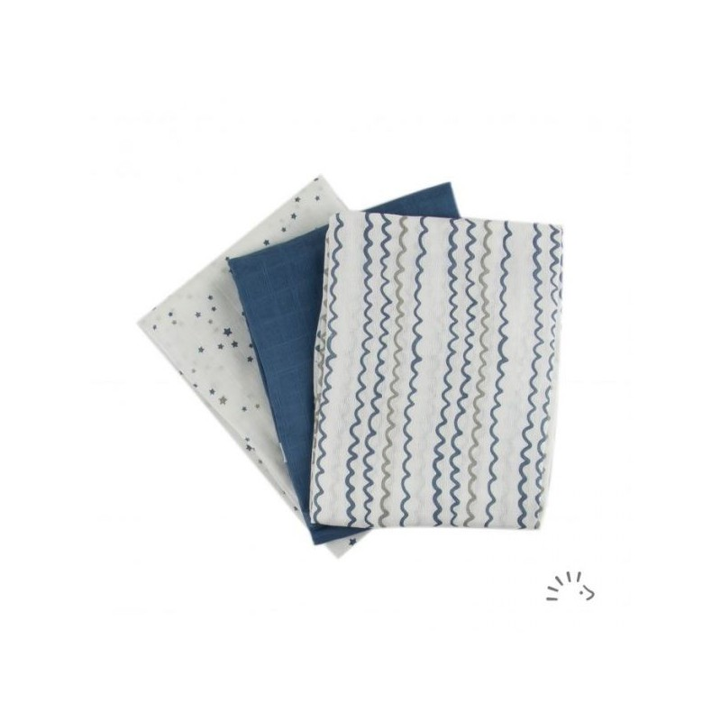 Iobio Muslins Organic Cotton 70 x 70 starry sea