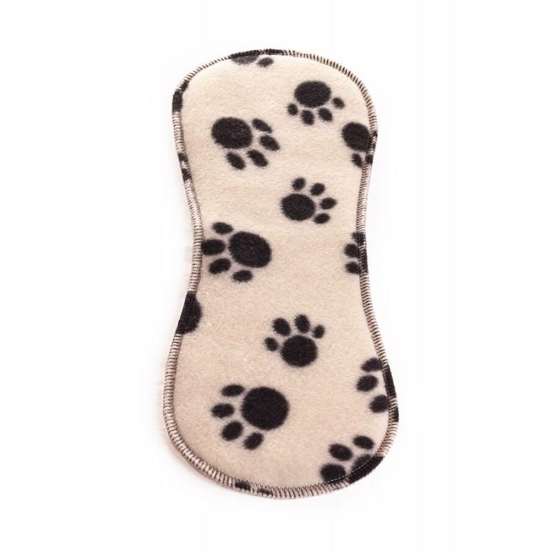 Ella's House Bum booster fleece black paw