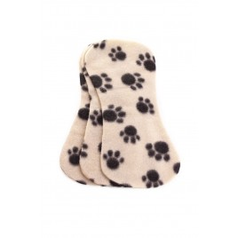 Ella's House Bum liners fleece blakc paw 3 pcs