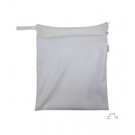 Popolini White Nappy Bag Zipper