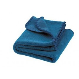 Disana Melange Wool Blanket blue-navy