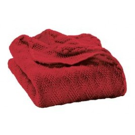 Disana Knitted Woollen baby blanket Bordeaux