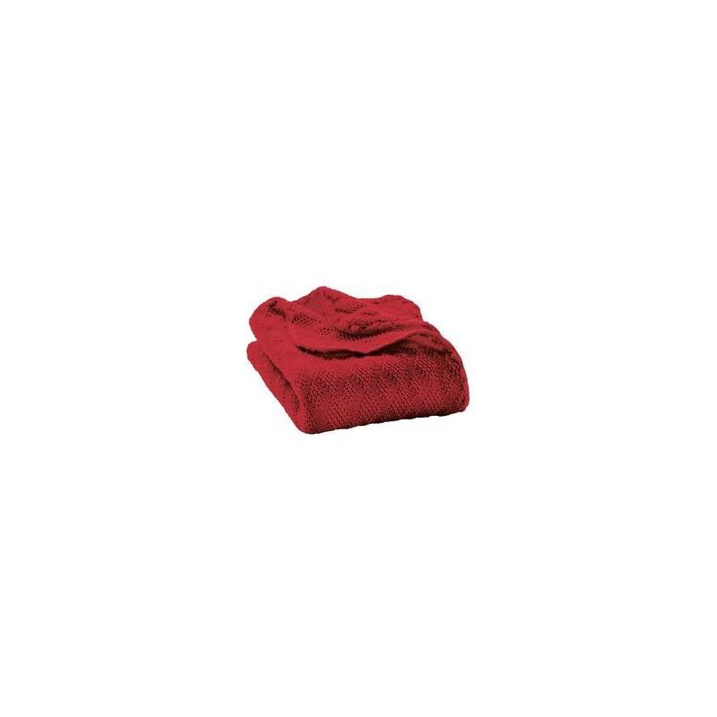 Disana Knitted Woollen baby blanket Bordeaux