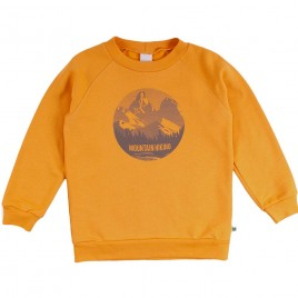 Green Cotton Hiking Mountain Sweatshirt sunflower