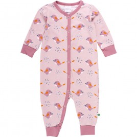 Green Cotton Bird Bodysuit Rose