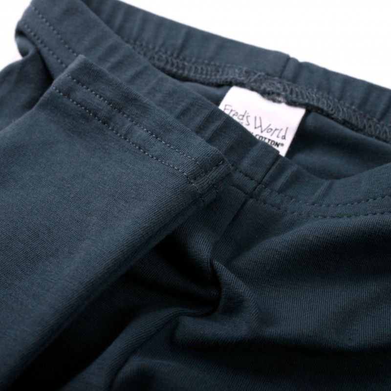 Green Cotton Alfa Leggings Baby midnight