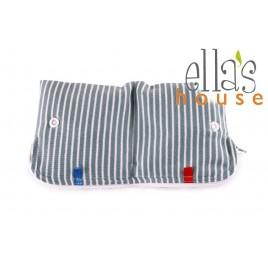 Ella's House Moon Pouch Stripes Blue