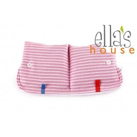 Ella's House Moon Pouch Stripes Pink