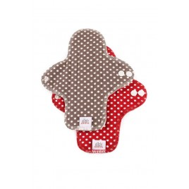 Ella's House Moon Pads Midi dots red 2 pcs